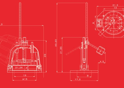 Erika Record HDE Dough Hand Divider | Technical Drawing