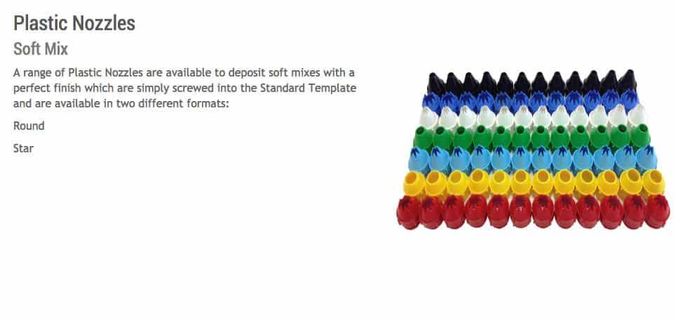 MONO Confectionery Depositor | Plastic Nozzles
