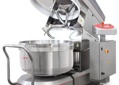 LP Group | LUX-R, Reinforced Removable Bowl Spiral Mixer, Lid Open
