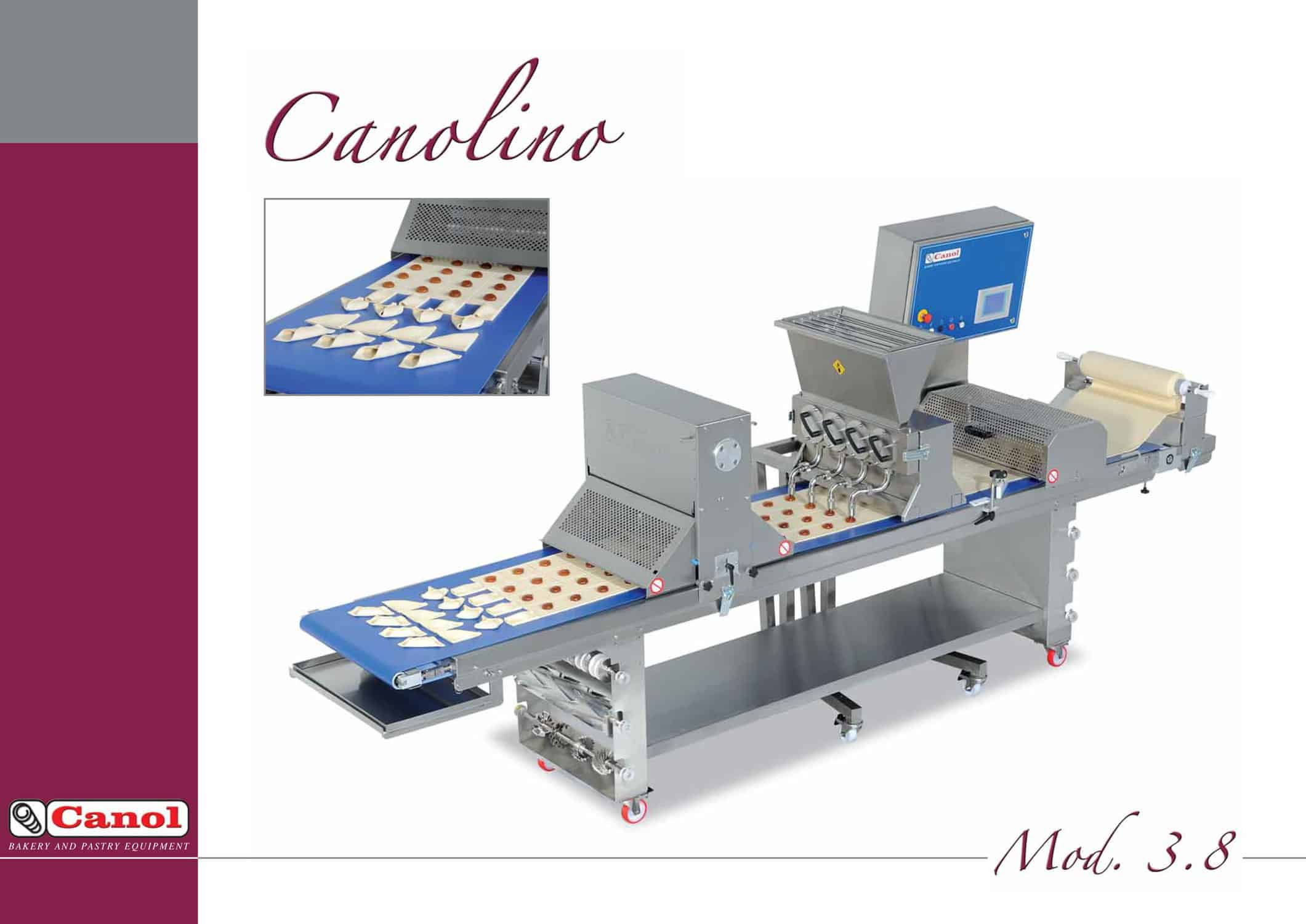 Canol makeup line table compact pastry production canolino